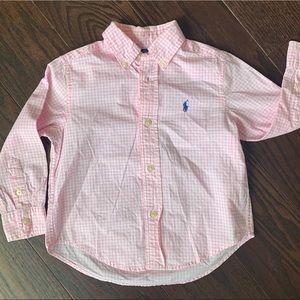 Ralph Lauren Toddler Gingham Cotton Poplin Shirt